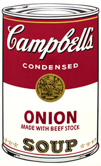 Andy Warhol, Campbell's Soup I (Onion), Screenprint / Ink, 1968