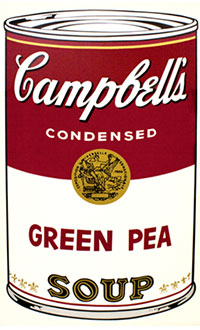 Andy Warhol, Campbell's Soup I (Green Pea), Screenprint / Ink, 1968
