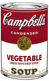 Andy Warhol, Campbell's Soup I (Vegetable), Screenprint / Ink, 1968