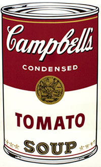 Andy Warhol, Campbell's Soup I (Tomato), Screenprint / Ink, 1968