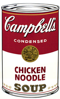 Andy Warhol, Campbell's Soup I (Chicken Noodle), Screenprint / Ink, 1968