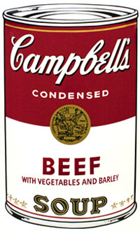 Andy Warhol, Campbell's Soup I (Beef), Screenprint / Ink, 1968