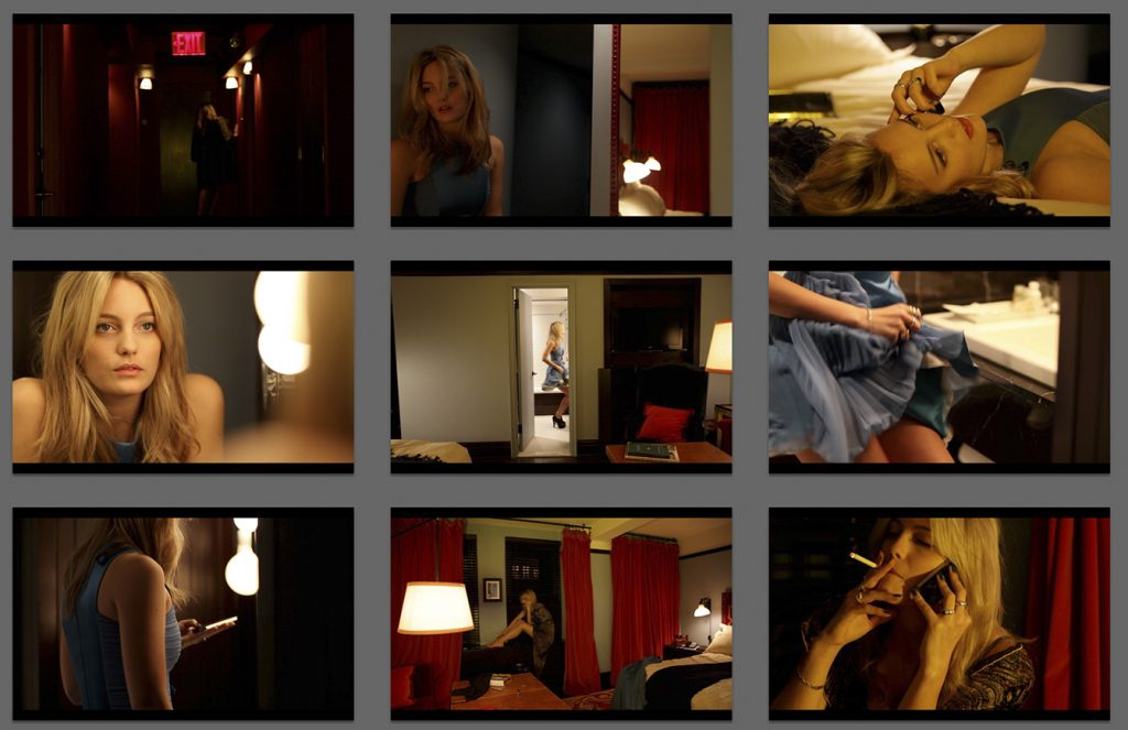 Scenes from a short-film featuring Leila George, directed by Gracie Otto, Inspiration for the upcoming feature film - Girls in Hotels